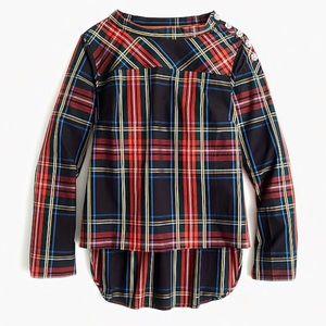 J.Crew Funnelneck Shirt in Stewart Tartan